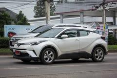 Van de Oversteekplaatssuv van Toyota CHR Subcompact de Hybride Auto Royalty-vrije Stock Afbeelding