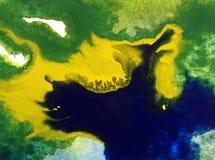 Van de overzeese van de van de achtergrond waterverfkunst abstract helder vaag geweven decoratiehand mooi van de de overstromings Stock Foto