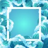 Van de overzeese het blauwe kader watergolf Stock Afbeelding
