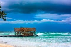 Van de overzeese de orkaan Irma onweersbuiwolk Stock Afbeelding