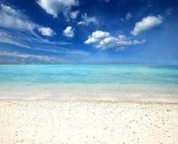 Van de overzeese van de het strand het blauwe hemel zandzon gezichtspunt van de het landschapsaard van Thailand Stock Foto