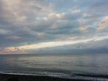 Van de overzeese de zonwater strandwolk royalty-vrije stock foto's