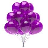 Van de de partijdecoratie van de ballon purper verjaardag glanzend de ballonsviooltje royalty-vrije illustratie