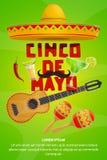 Van de de partijgroet van Cinco de Mayo Mexicaans de bannerontwerp