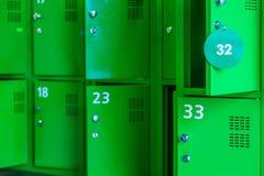 Van de de persoonlijke bezittingenmarkt van dozensloten de groene stijl royalty-vrije stock fotografie
