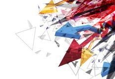 Van de pijl abstract ontwerp als achtergrond vector illustratie