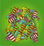 Van de pillensymbolen van de dokter groene kleur als achtergrond Stock Fotografie