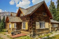 Van de Plaatsbanff van Skokiski lodge canada national heritage het Nationale Park stock afbeelding