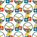 Van de de pookgokker van het casinospel van de van het de achtergrond symbolen de naadloze patroon illustratie van de jokerslotbv Royalty-vrije Stock Fotografie