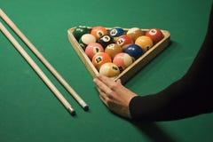 Van de pool (biljart) het spel Stock Foto