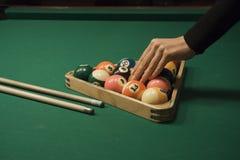 Van de pool (biljart) het spel Royalty-vrije Stock Foto's