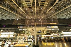 Van de de POSTstad van OSAKA Kerstmis lightsfont mening Stock Afbeelding