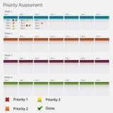 Van de prioritaire het Pictogram Beoordelingsgrafiek Royalty-vrije Stock Fotografie