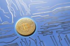 Van de de raads digitale munt van de Bitcoinkring de generatieservers royalty-vrije stock foto