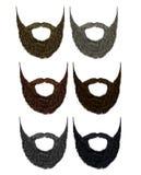 Van de reeks lange baard en snor verschillende kleuren De stijl van de manierschoonheid stock illustratie