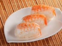 Van de reeksnigiri van sushi de sushimaaltijd Royalty-vrije Stock Afbeeldingen