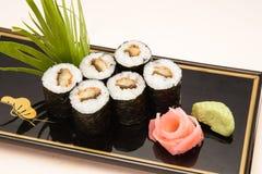 Van de reeksnigiri van sushi de sushimaaltijd Stock Foto's