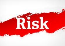 Van de risico Rode Borstel Abstracte Illustratie Als achtergrond vector illustratie