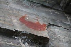 Van de de Rotskunst van Native American de oude dode bizon of buffalo2 royalty-vrije stock fotografie