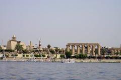 Van de de Ruïnefarao van Egypte van de Luxortempel de Archeologiewater royalty-vrije stock afbeeldingen