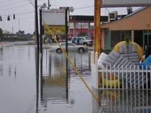 Van de de schaderegen van het vloedonweer de stortvloed van de de orkaantornado stock afbeelding