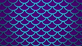 Van de schalen heldere violette cellen van neon blauwe vissen het patroon mariene 3D illustratie als achtergrond royalty-vrije illustratie