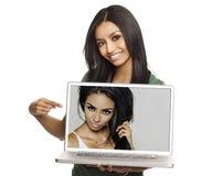 Van de schoonheids kosmetisch haar en make-up contrast Stock Afbeeldingen