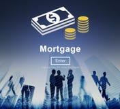 Van de Schuldfinanciën van de hypotheekbetaling het Online Concept van Webiste Royalty-vrije Stock Foto's