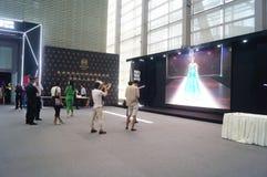 Van de Shenzhenovereenkomst en Tentoonstelling het Centrum, model toont scène Stock Afbeeldingen