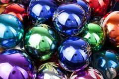 Van de de snuisterijenbal van de Kerstmissnuisterij bal van het de textuur de echte glas De Kerstmisballen, vieren Kerstmisvakant Stock Foto