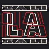 Van de de Sportslijtage van Los Angeles de typografieembleem, stock illustratie