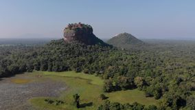 Van de srivertraging van Sigiriyalion rock mount de dageraad hoogste mening stock footage