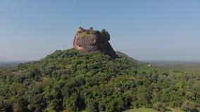 Van de srivertraging van Sigiriyalion rock mount de dageraad hoogste mening stock video