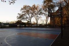 Van de Stadsharlem van New York het Basketbalhof de V.S. Stock Foto