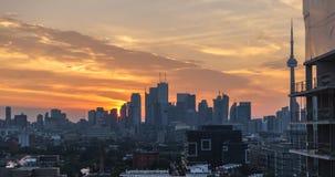 Van de de Stadshorizon van Toronto de Moderne Zonsopgang van Real Estate stock footage