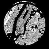 Van de Stadsmanhattan van New York de Kaart van het het Kompasontwerp royalty-vrije illustratie