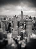 Van de Stadsmanhattan van New York de uit het stadscentrum luchtmening Stock Foto's