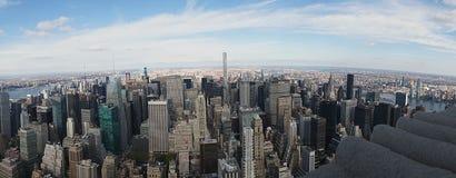Van de Stadsmanhatten de V.S. van New York de Horizonhemel Royalty-vrije Stock Afbeelding