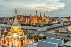 Van de Stadspijlers van Bangkok het Heiligdom en Wat Phra Kaew Stock Foto