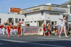 Van de de Stadsuniversiteit van Pasadena de de Eerband toont van de buitengewone Toernooien o Stock Foto