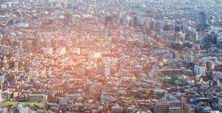 Van de de stadswoonplaats van Tokyo luchtmening de van de binnenstad Royalty-vrije Stock Afbeeldingen
