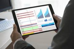 van de de Statistiekeninformatie van Analytics van het werk de harde Gegevens Zaken Technol Royalty-vrije Stock Afbeelding