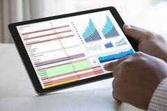 van de de Statistiekeninformatie van Analytics van het werk de harde Gegevens Zaken Technol Royalty-vrije Stock Foto's
