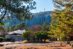 Van de steenberg en pijnboom bomen, Georgië, de V.S. Stock Afbeelding
