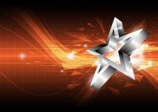 Van de ster abstract ontwerp als achtergrond royalty-vrije illustratie