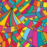 Van de de ster het volledige pagina van de lijnkrul naadloze patroon royalty-vrije illustratie