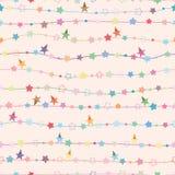 Van de de ster horizontale lijn van de sterpartij de pastelkleur naadloos patroon stock illustratie