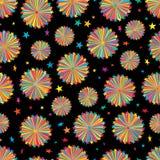 Van de de straal het kleurrijke vrijheid van de sterlijn naadloze patroon vector illustratie