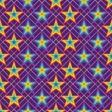 Van de de streepsymmetrie van de sterregenboog de diamant naadloos patroon stock illustratie