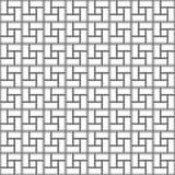 Van de de tegeltextuur van de contrastbaksteen het spiraalvormige naadloze patroon met de wijzers van de klok mee Vector Illustratie